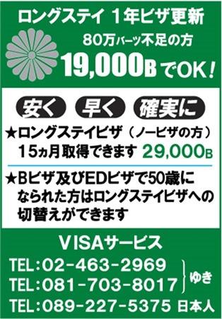 VISAサービスの広告