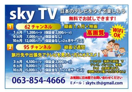 スカイTVの広告
