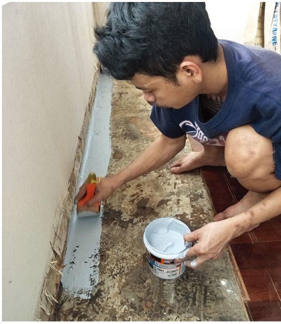③内部の防水塗装