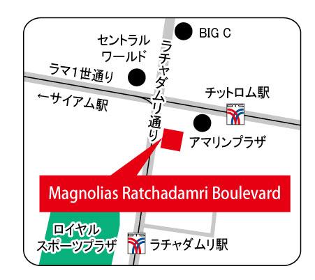 マグノリア・ラチャダムリ・ブールヴァードの地図