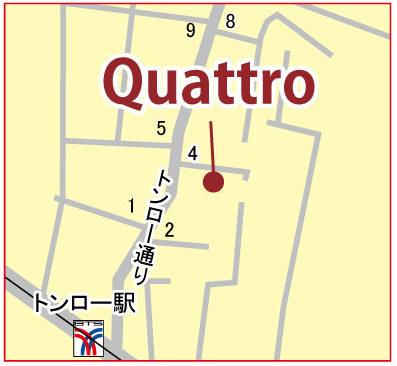 投資用に最適なサンシリ物件「クアトロ」の地図