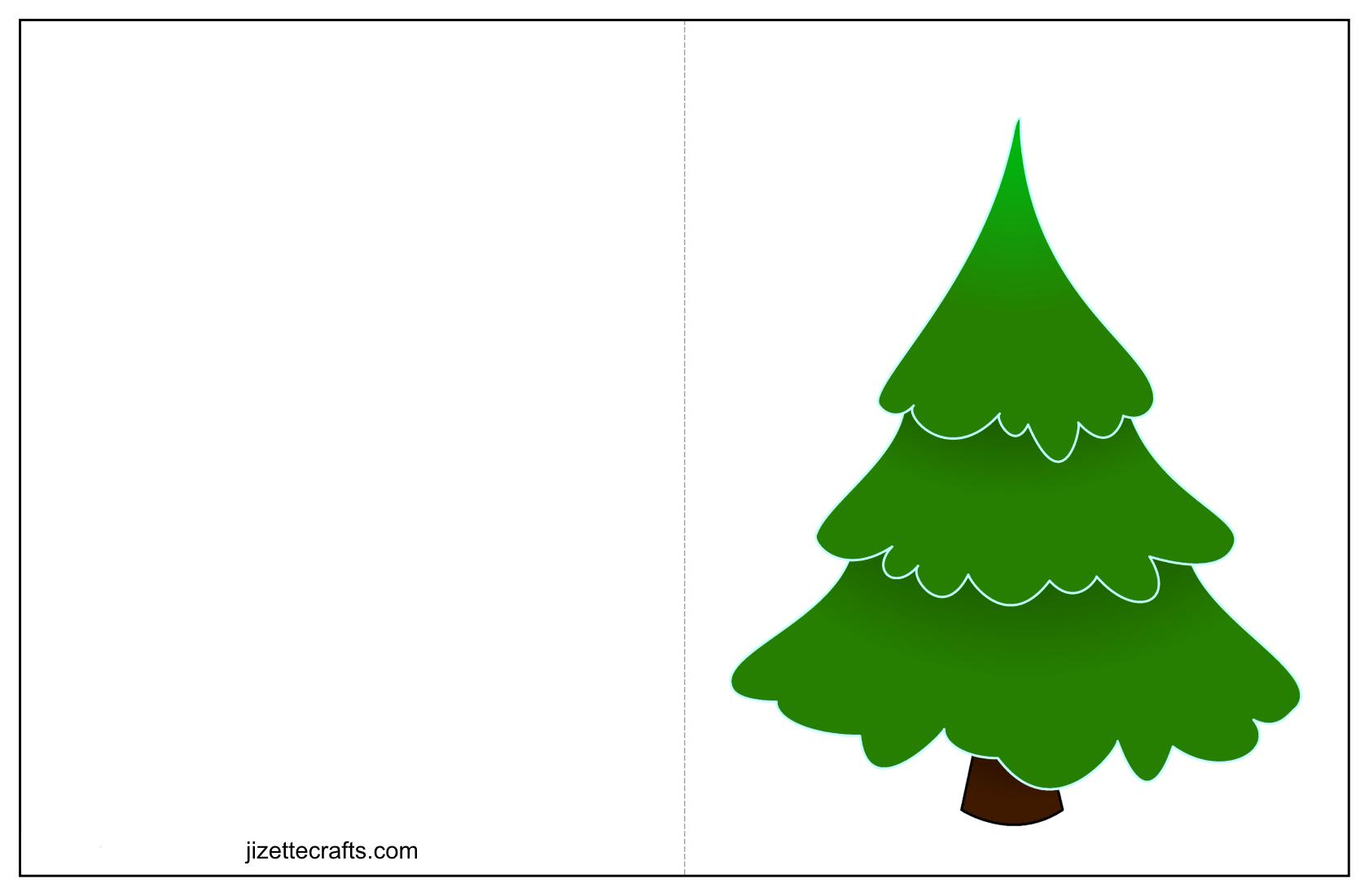 Printable Christmas Tree Cards