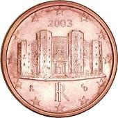 Moeda italiana em 1 eurocent.
