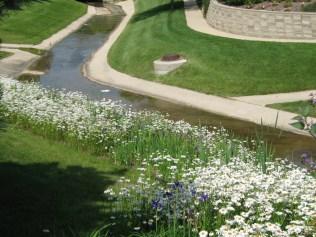 Beautiful plantings behind Hawthorne 2 Lake