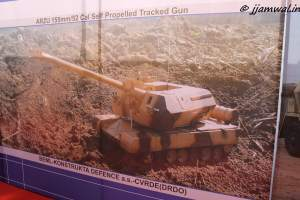 Arzu, 155mm/52cal Self-propelled  tracked gun by BEML-Konstrukta Defence