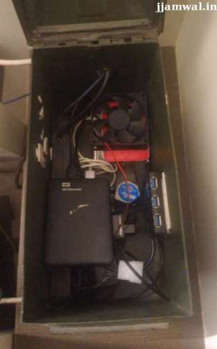 Ammunition box with all of Raspberry pi setup inside