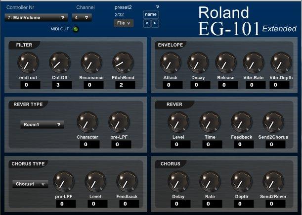 Roland EG-101 Extended (2/2)