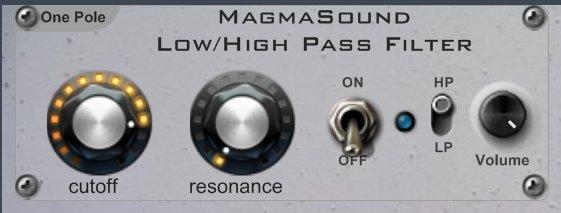 Filtros LP/HP vst MagmaSound one pole (2/2)