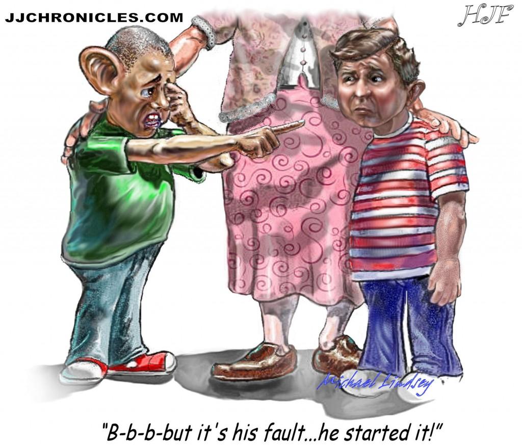 Obama's blame and take credit game