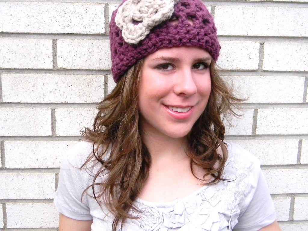 Crochet hat pattern rachael free pattern friday free crochet hat pattern for women rachaels chunky open weave hat with flower use bankloansurffo Image collections