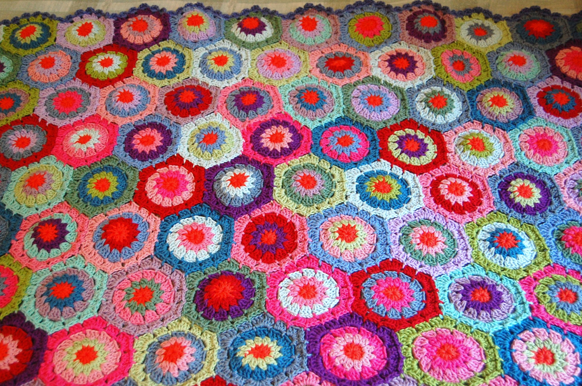 Crochet hexagon blanket is finished bankloansurffo Image collections