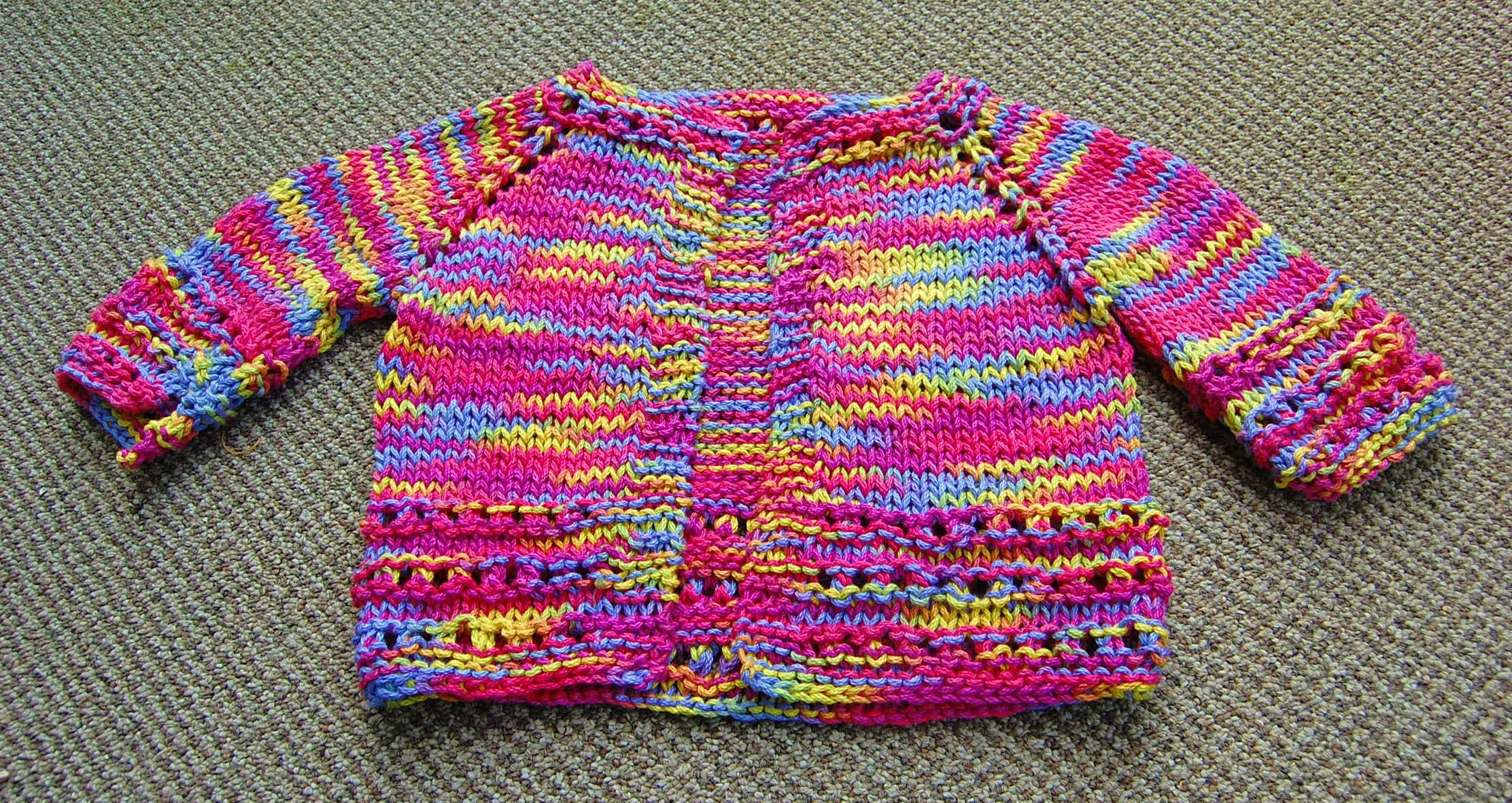 Knitted Baby Sweater – Rainbow