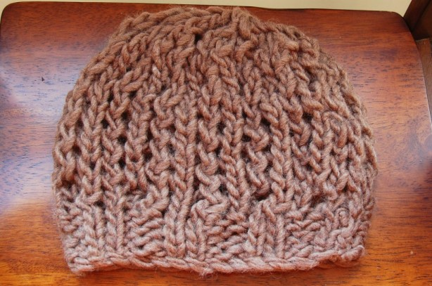 chunky knit open fall hat