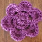 free crochet flower pattern - JJCrochet
