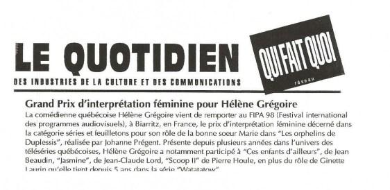 Helene Gregoire LesOrphelinsdeDuplessis ©QuiFaitQuoi1998