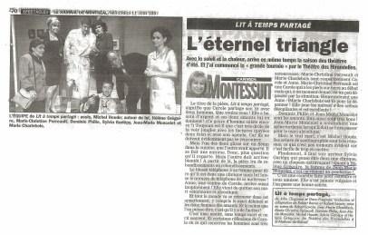 Helene Gregoire Lit a temps partagé ©JournaldeMontrealJuin1997