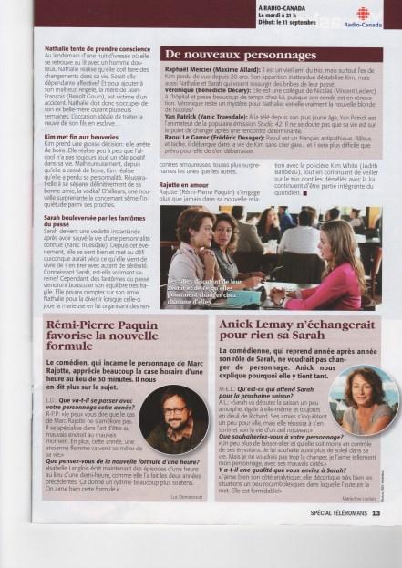 Judith Baribeau Mauvais Karma ©Téléromans 2012 page 2