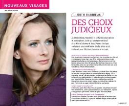 Judith Baribeau TV Hebdo Nouveaux Visages Page 1
