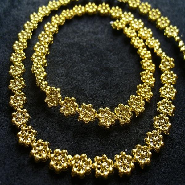 Decorative Braid Small Flowers Gold