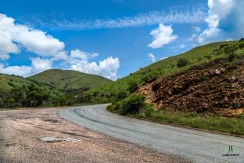 Roadway up a hill
