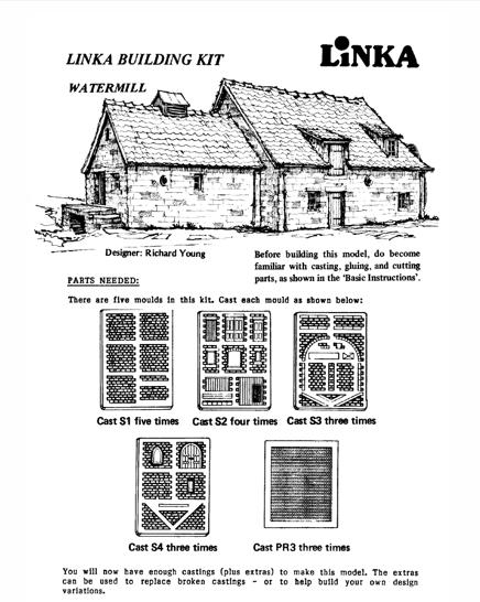 Planos del molino de agua
