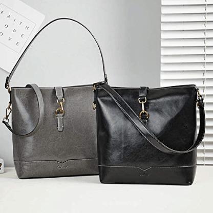 Ladies Fashion Shoulder Tote Bag Grey