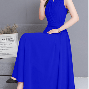 Image_Popjulia_v_neck_women_dress_blue_sit_position