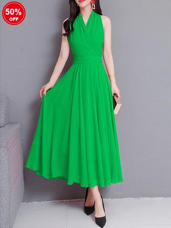 Image_Popjulia_v_neck_women_dress_green