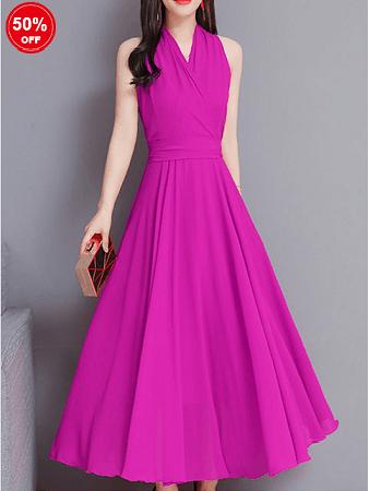 Image_Popjulia_v_neck_women_dress_pink