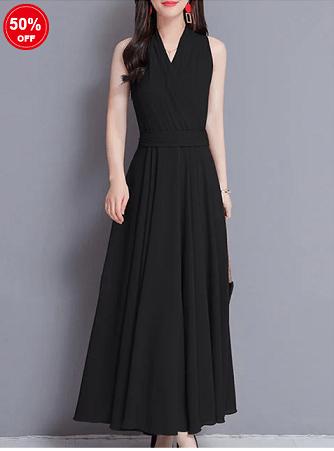 Image_Popjulia_v_neck_women_dress_black