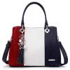 Red/Blue Handbag Large Shoulder Bag for Women