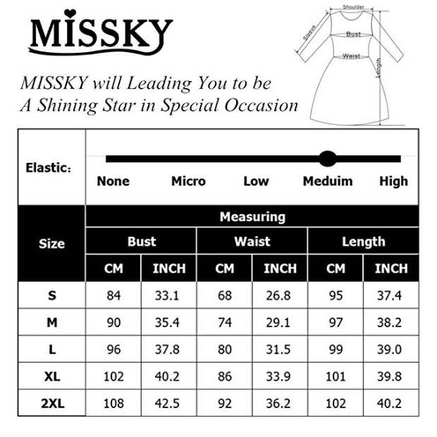 MISSKY Women's Cross Neckline A-line Floral Party Dress(size)