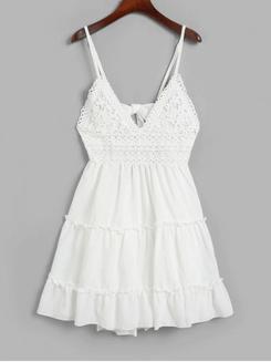 Image_Zaful_Crochet_ Panel_ Cami_ Flare_ Dress