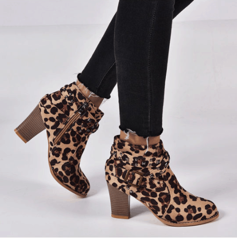 Image_Berrylook_casual_beld_buckle_heel_boots_panther
