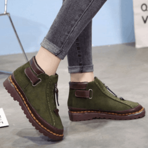 Image_Berrylook_casual_outdoor_short_boots_green_sidelook