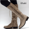 Image_Berrylook_Outdoor_knee_high_boots_ Khaki_sidelook