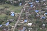Blue tarps offer temporary help