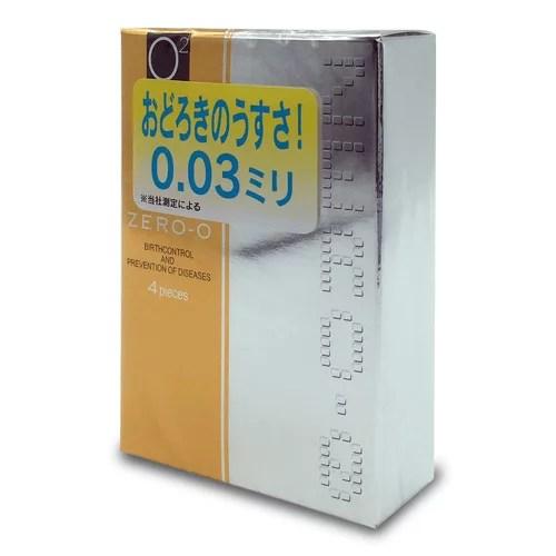 不二乳膠 零O - 0.03 500 4 片裝 (日本版)