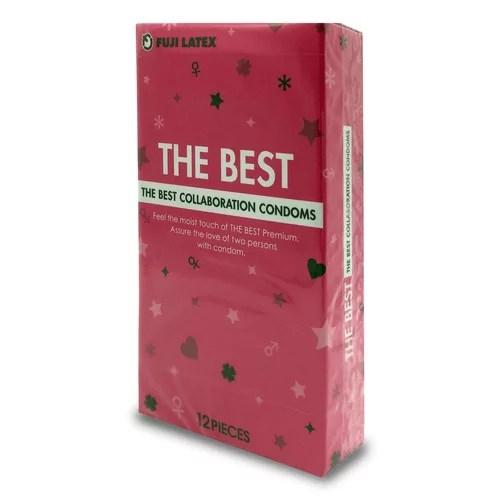不二乳膠 The Best 潤滑粉紅 12片裝 (日本版)