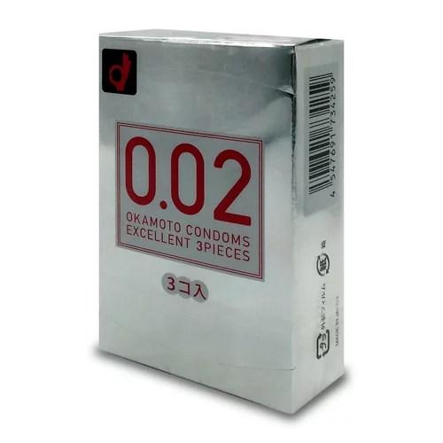 Okamoto 岡本 0.02EX (3 片裝) 安全套
