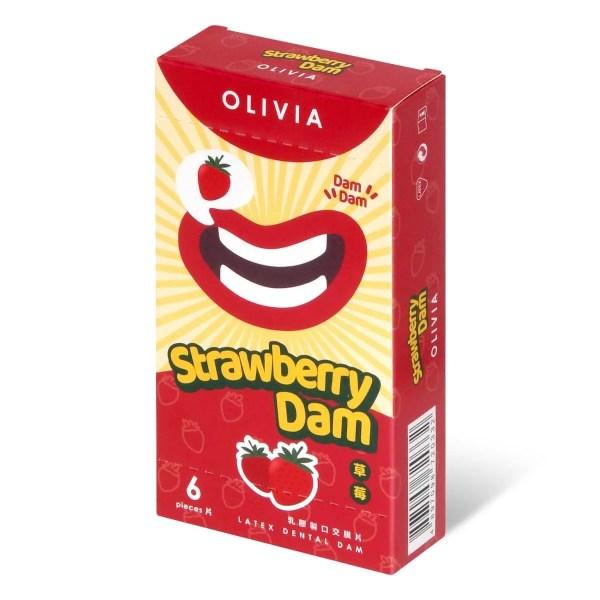 奧莉維亞 草莓香味 口交膜