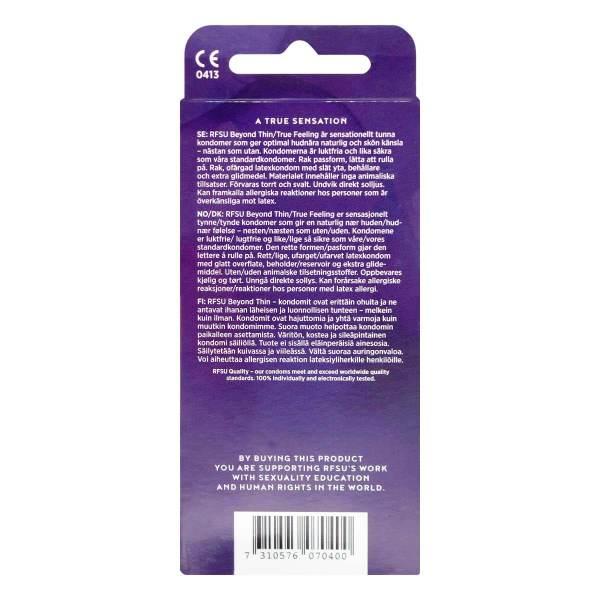 RFSU 瑞心 超薄 8 片裝 乳膠安全套