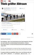 20.10. - Fanseite goes Bildzeitung... Eine von Jan geteilte Fotomontage hat es in Deutschlands größte Klatschzeitung geschafft. Darauf einen Düschardäng. ;) (Wesentlich lustiger als der nichtssagende Text in der BILD war eigentlich Axels Kommentar unter dem von Jan geteilten Foto... :o)