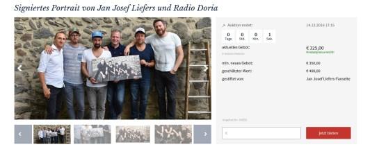 Unser von Radio Doria signiertes Bild bringt 325€ für die NCL-Stiftung ein. DANKE dafür!!!