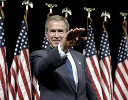 bush salute