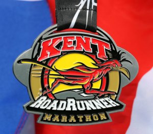 Kent Roadrunner Marathon finishers medal one of the biggest in the UK