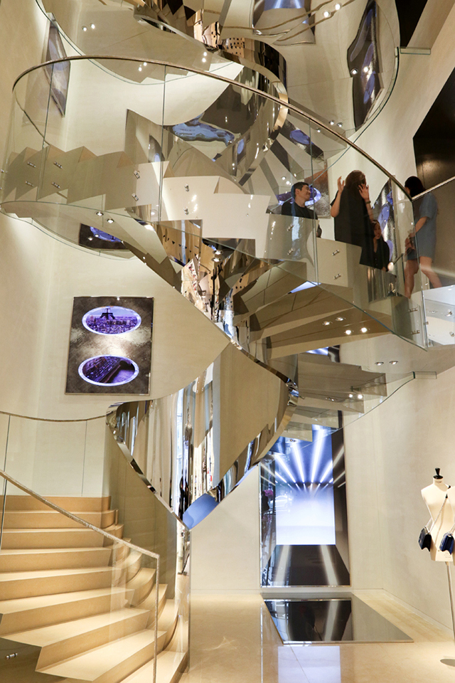 Inside the Dior boutique in Seoul.