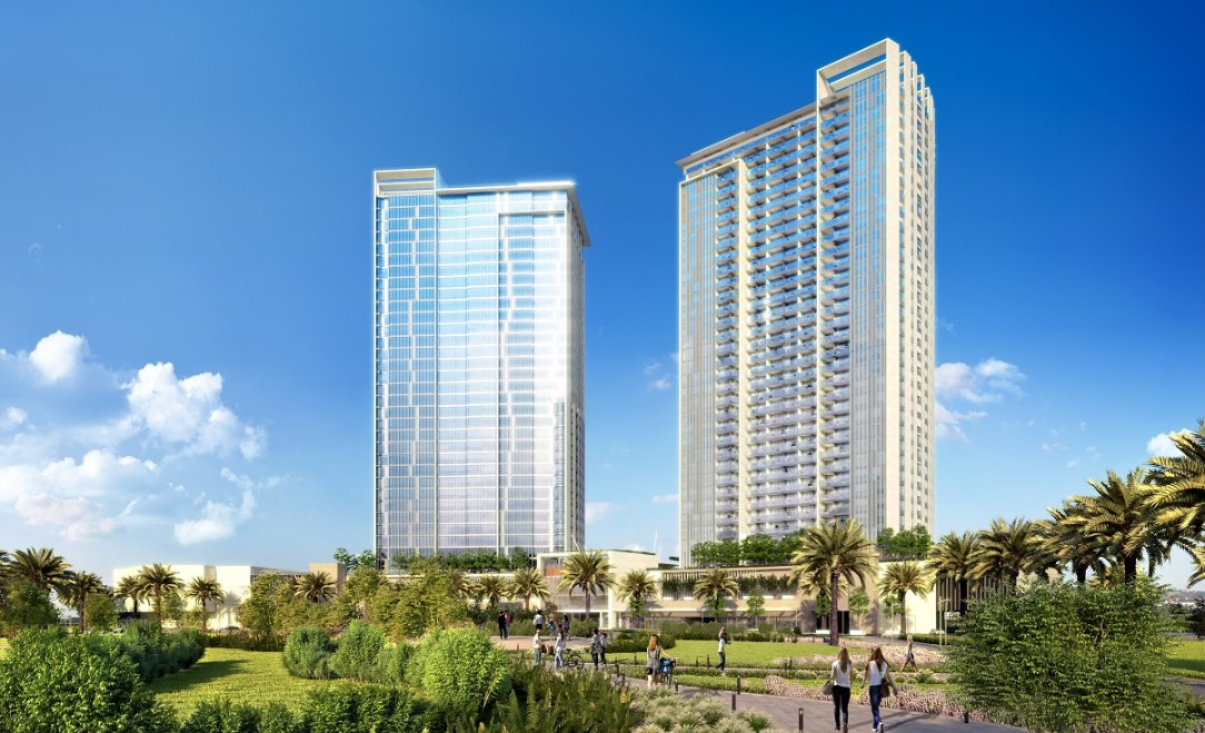 001 RUYA_Aston_OverallTwinTowers_DayPedestrianView-Cropped