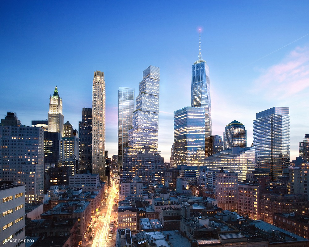 DBOX for BIG - WTC2 - Tribeca Dusk