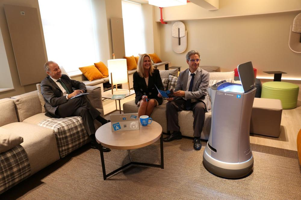 6 2 Robot delivery at business meeting
